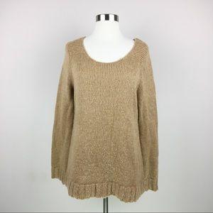 Gap Alpaca Wool Blend Tan Pullover Sweater Size M
